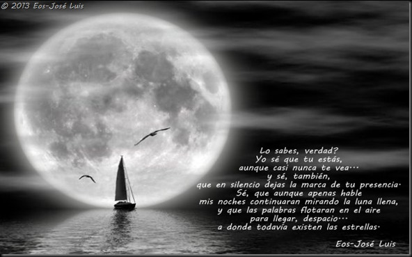 Noche, luna y mar