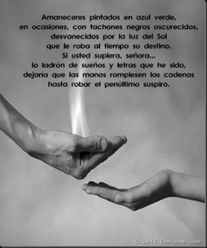 fuego manos
